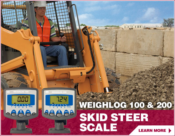 Skid loader scale system